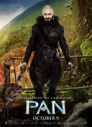 Pan new poster shows off Hugh Jackman as Blackbeard