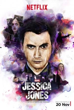 Jessica Jones new art poster meets the Purple Man