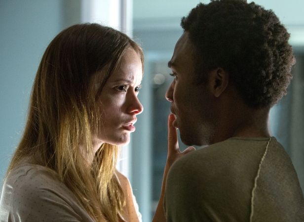 M047b  (Left to right.) Olivia Wilde and Donald Glover star in Relativity Media's