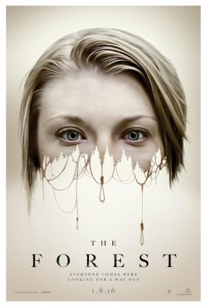 The Forest poster haunts Natalie Dormer