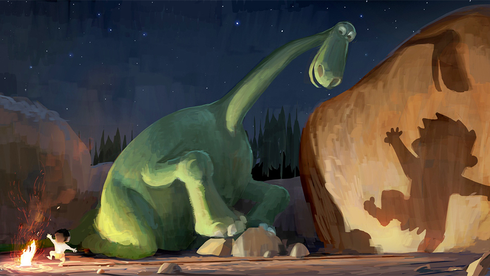 Arlo and Spot in The Good Dinosaur's concept art