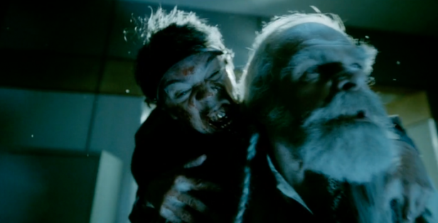 Christmas Zombie Santa.A Christmas Horror Story Clip Zombie Elves Attack Santa