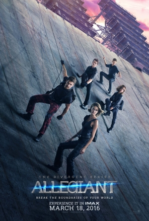 The Divergent Series: Allegiant poster scales a building