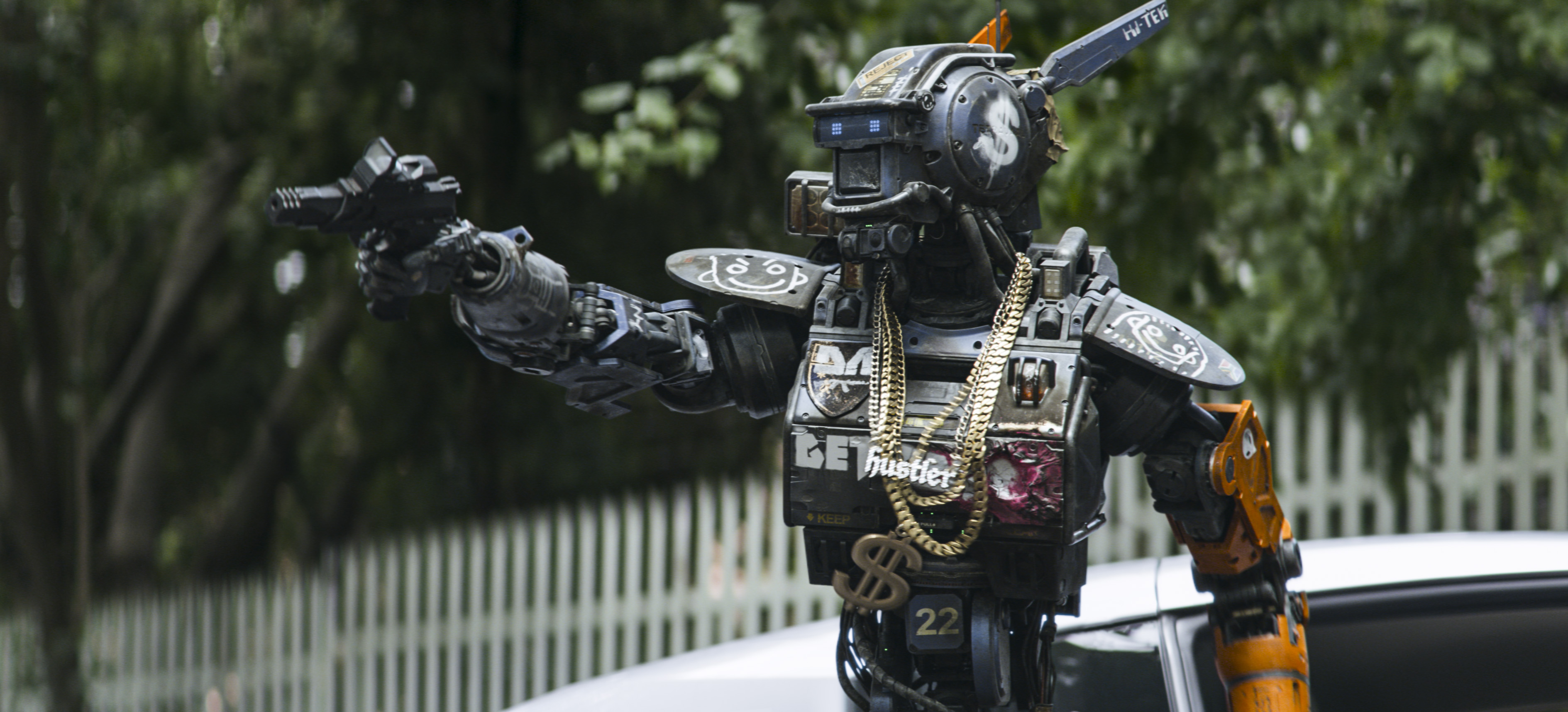 ***SUNDAY CALENDAR STORY FOR JANUARY 11, 2014. DO NOT USE PRIOR TO PUBLICATION**********Chappie (Sharlto Copley) from Columbia Pictures' action-adventure movie CHAPPIE.