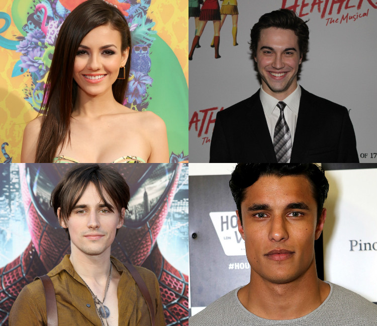 Clockwise from top left: Victoria Justice, Ryan McCartan, Staz Nair and Reeve Carney