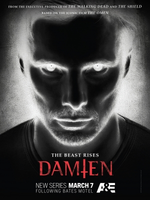 Damien TV series new poster is waiting for you to blink