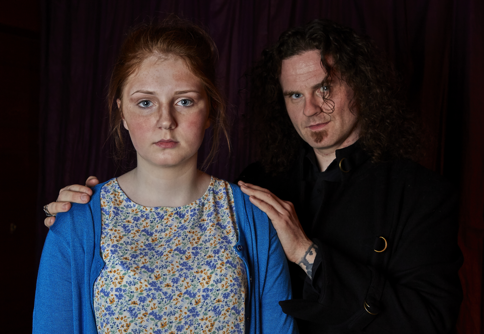 Caitlin Blackwood and Billy Kirkwood Filming a promotional 'Cops and Monsters' video - 24 May 2015