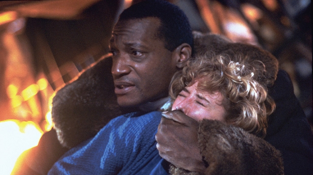 Tony Todd with Virginia Madsen in Bernard Rose's Candyman