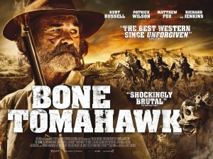 Bone Tomahawk banner poster: Kurt Russell stares off into the distance