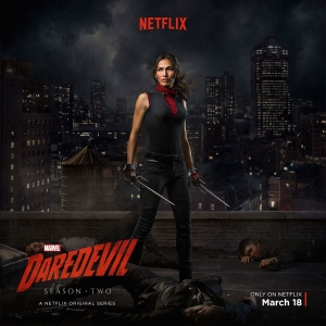 Elektra stands tall in new Daredevil Season 2 poster