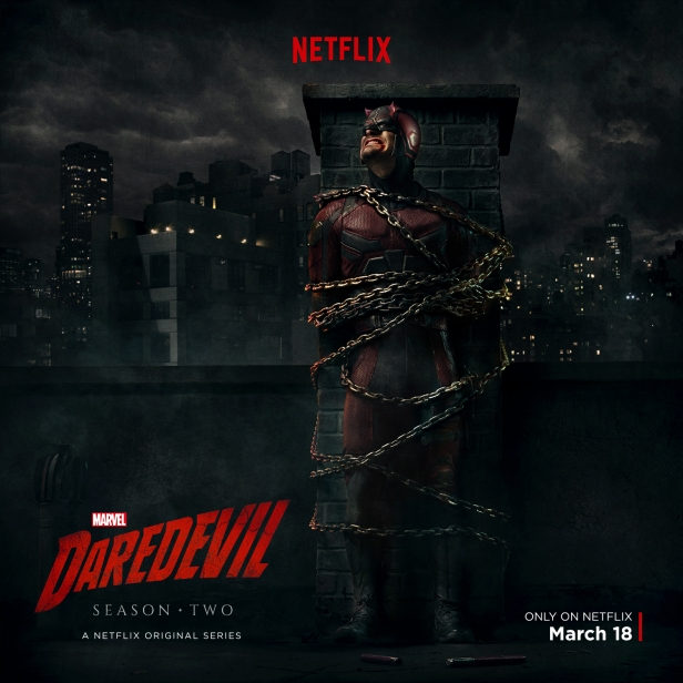 Scifinow The World S Best Science: Daredevil Season 2 Poster Sees Matt In A Bad Way