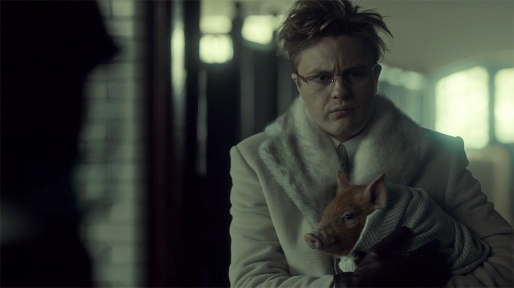 Michael Pitt as super-freak Mason Verger in Hannibal Season 2.