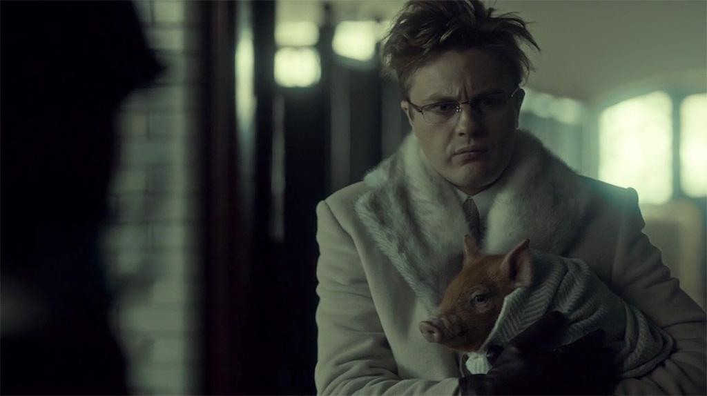 Michael Pitt as super-freak Mason Verger in Hannibal Season 2.