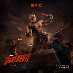 Daredevil Season 2 poster fights off ninjas