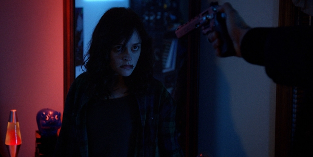 Lauren Ashley Carter isn't scared by a gun in The Mind's Eye