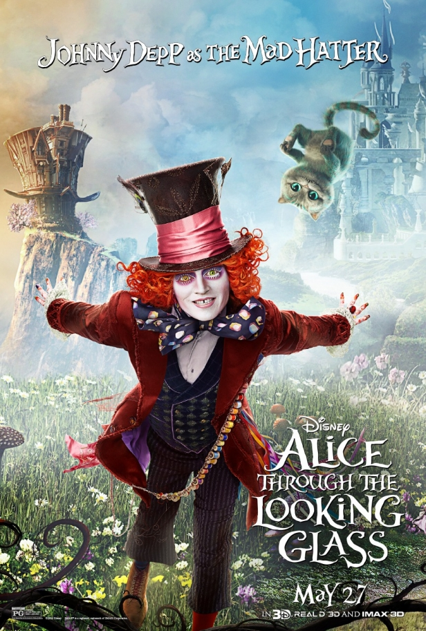alice through the looking glass new character posters are