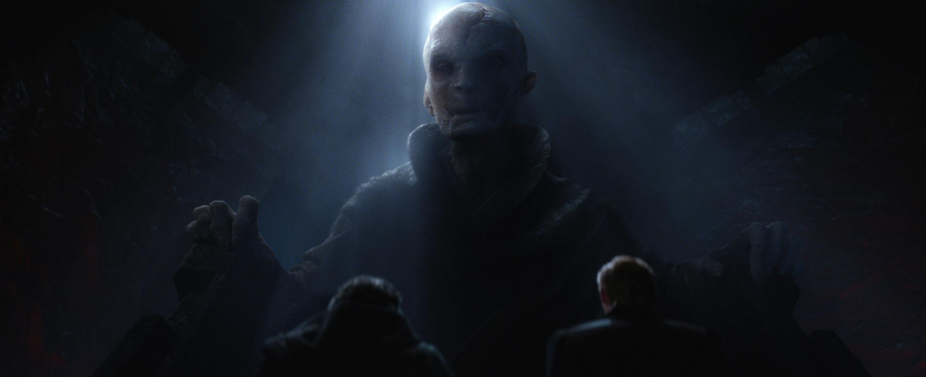 Star Wars: The Force Awakens..Supreme Leader Snoke (Andy Serkis)..Ph: Film Frame..© 2014 Lucasfilm Ltd. & TM. All Right Reserved..