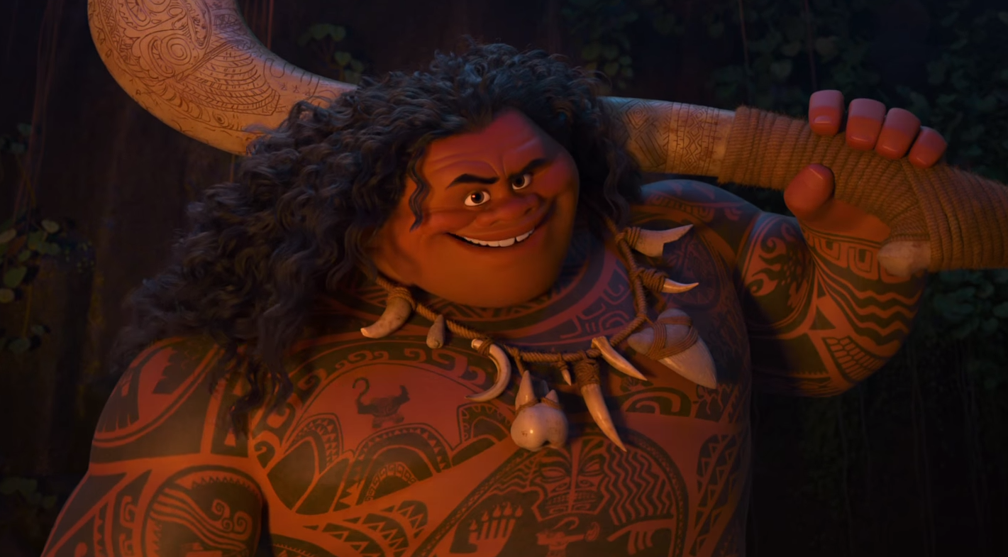 moana first teaser trailer introduces maui and his magical
