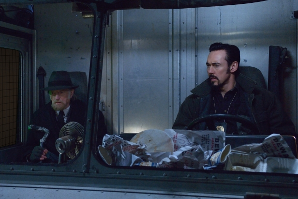 "THE STRAIN -- ""Night Train"" -- Episode 213 (Airs October 4, 10:00 pm e/p) Pictured: (l-r) David Bradley as Abraham Setrakian, Kevin Durand as Vasiliy Fet. CR: Michael Gibson/FX"