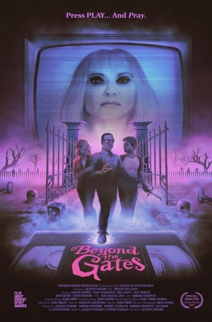 Beyond The Gates poster for retro horror is glorious