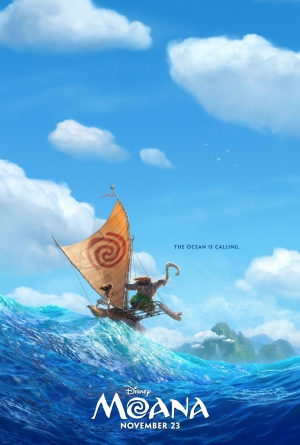 Moana first poster hears the call of the ocean
