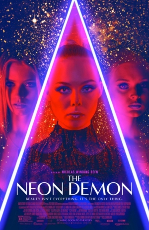 The Neon Demon poster is damn stylish and damn glittery