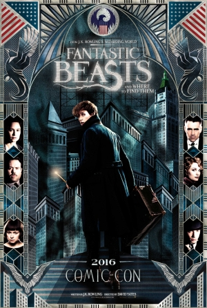 Fantastic Beasts Comic Con poster is very stylish