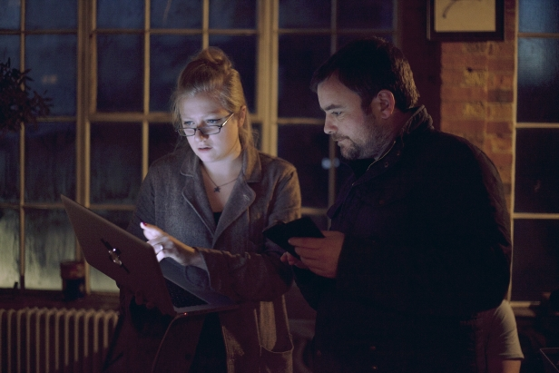 Handorf on set with Neil Maskell (photo credit Colin Smith)