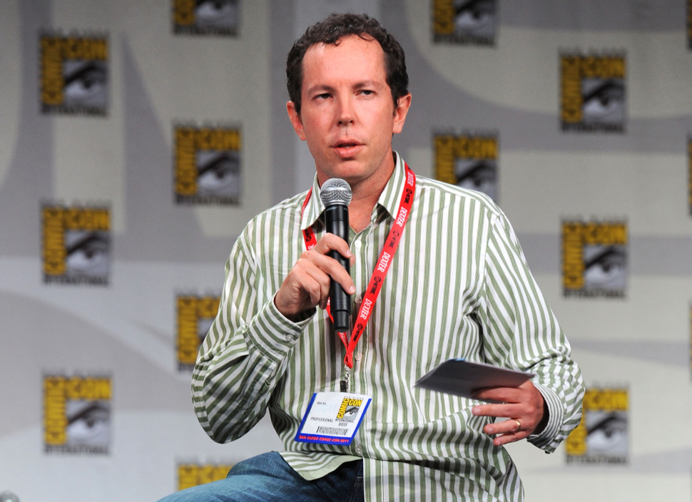 """SAN DIEGO, CA - JULY 21:  Writer Matt Nix speaks at the """"Burn Notice: The Fall Of Sam Axe"""" Panel during Comic-Con 2011 on July 21, 2011 in San Diego, California.  (Photo by Frazer Harrison/Getty Images)"""