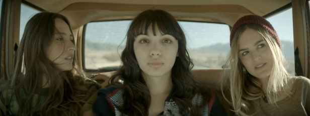 Fabianne Therese, Hannah Marks and Nathalie Love in Southbound