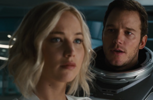 Passengers full trailer strands Jennifer Lawrence & Chris Pratt together
