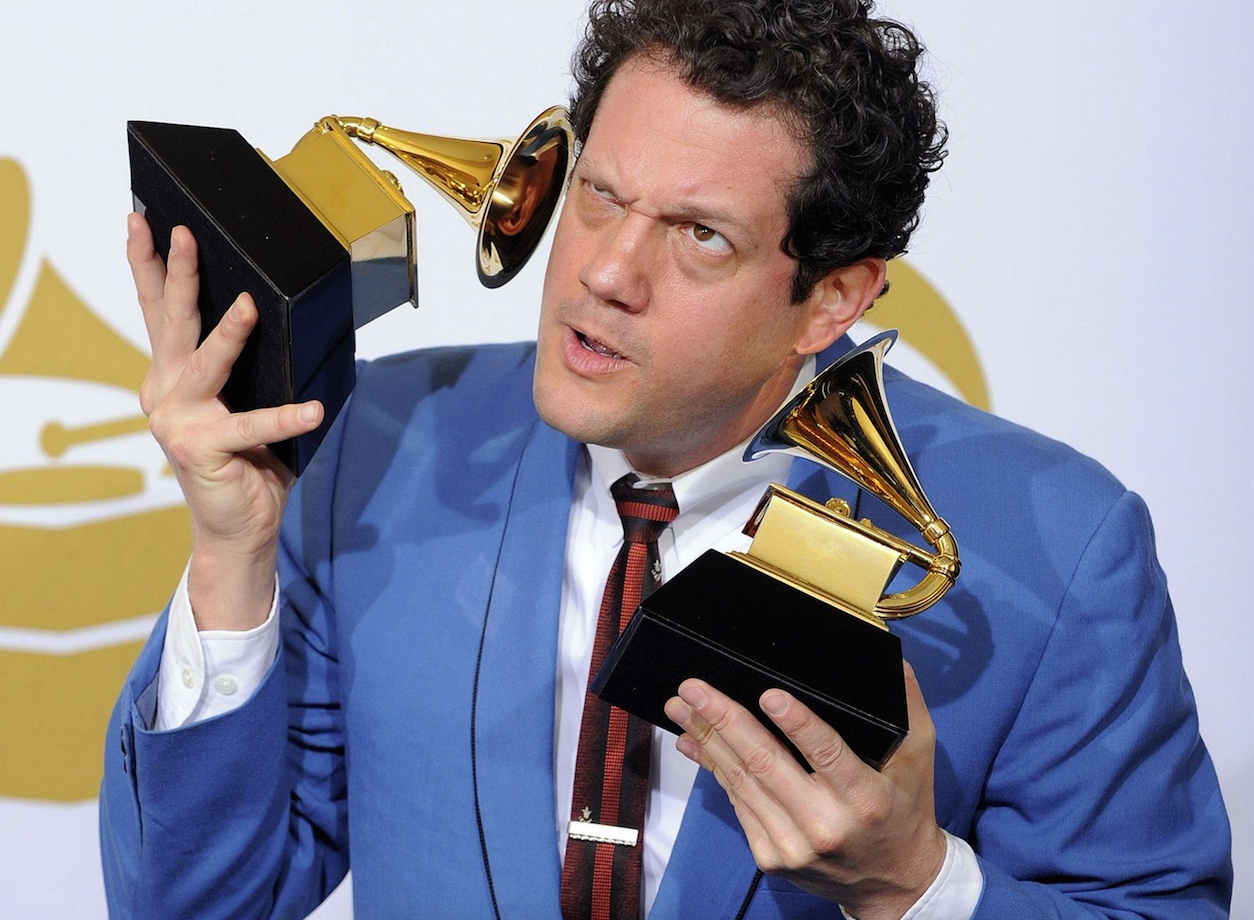 Giacchino with his Grammys