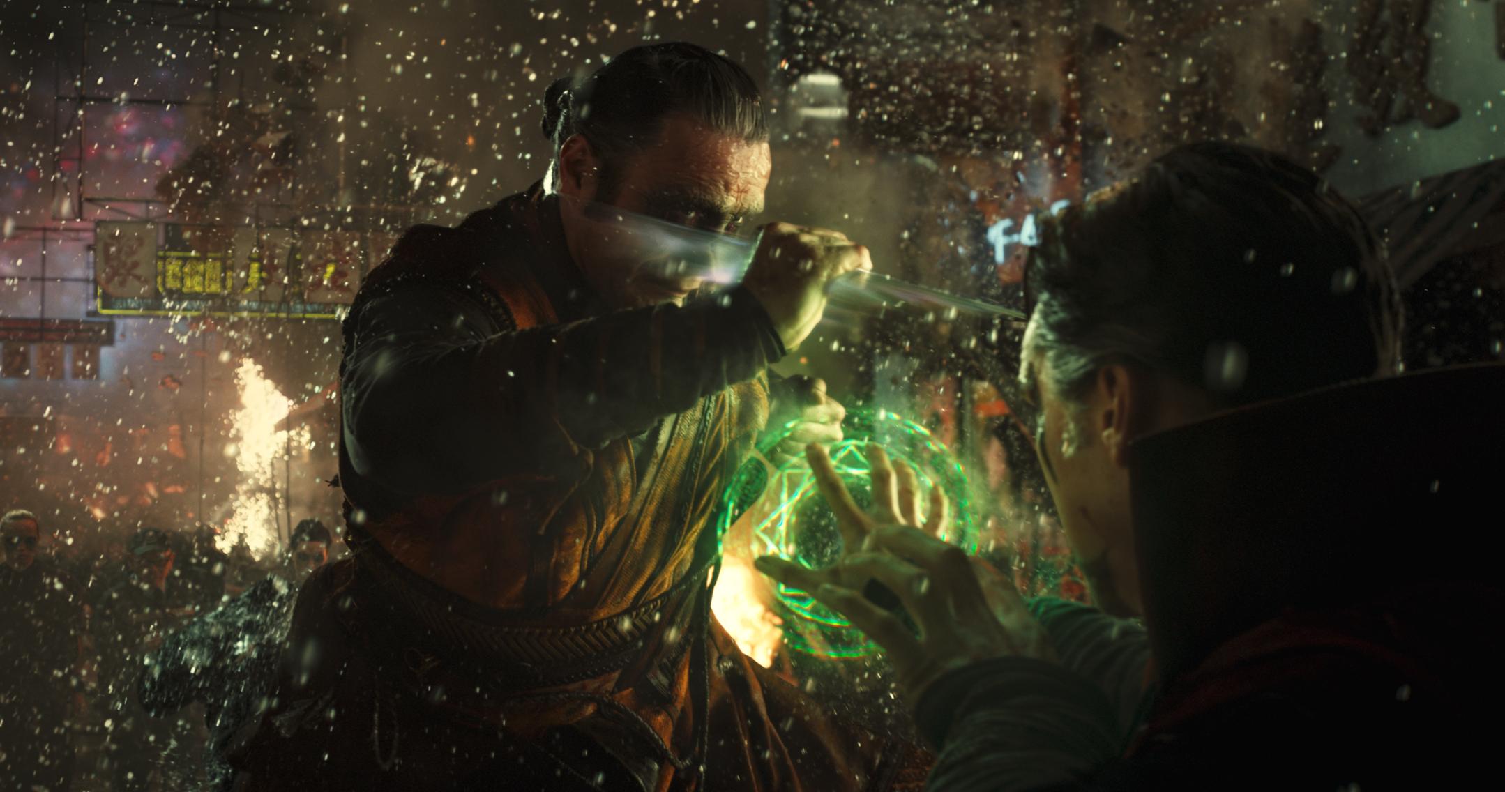 Mads Mikkelsen being cool as always as Kaecilius in Doctor Strange