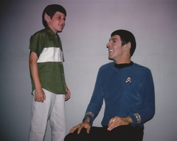 """A young Adam Nimoy (left) visits his father (Leonard Nimoy, right) on the set of Star Trek: The Original Series prior to air in 1966"" (Photo courtesy Nimoy Archive / CBS)"