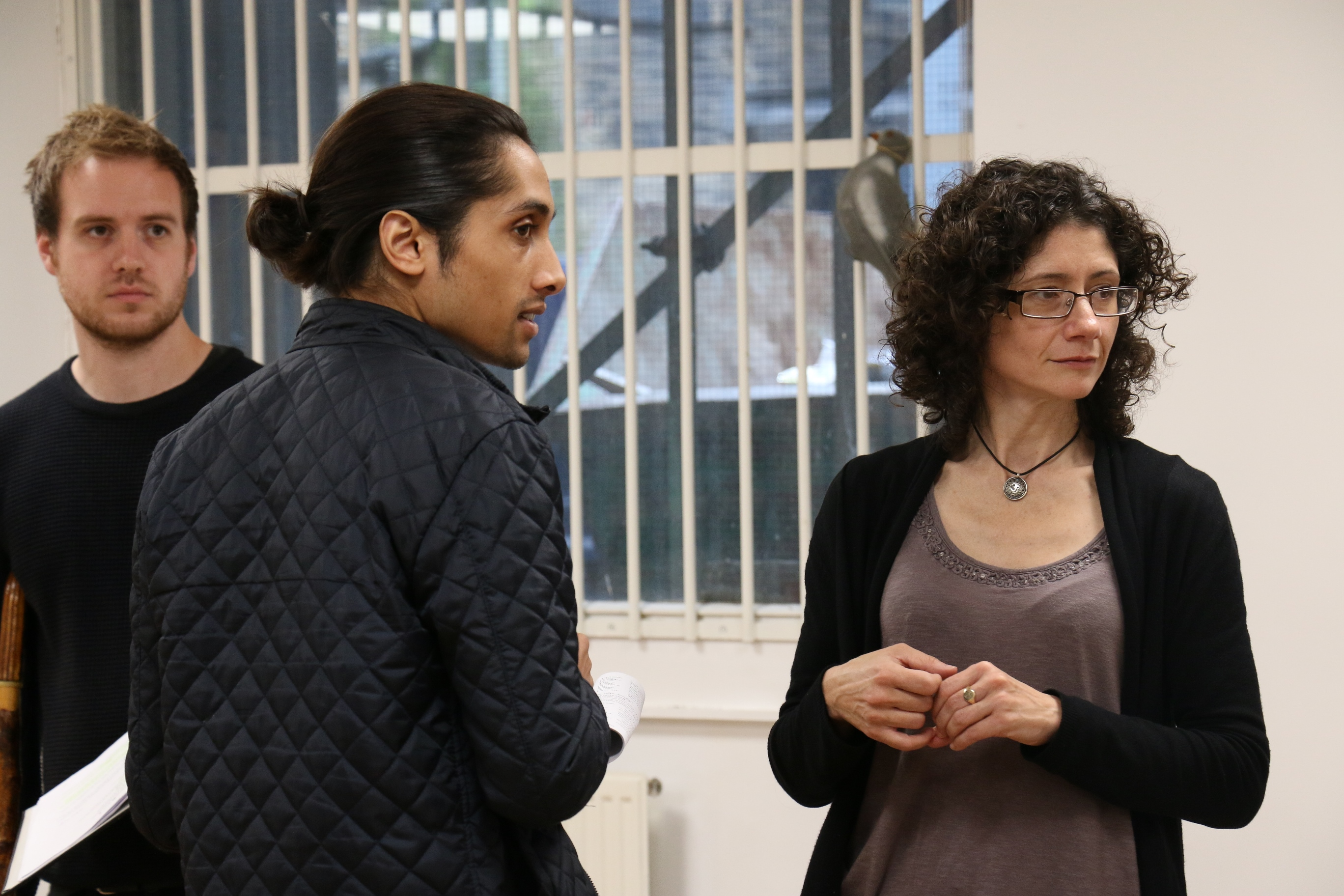 Philip Duguid-McQuilan, Kaamal Kaan and director Alex Chisholm - Photo by Maria Spadafora