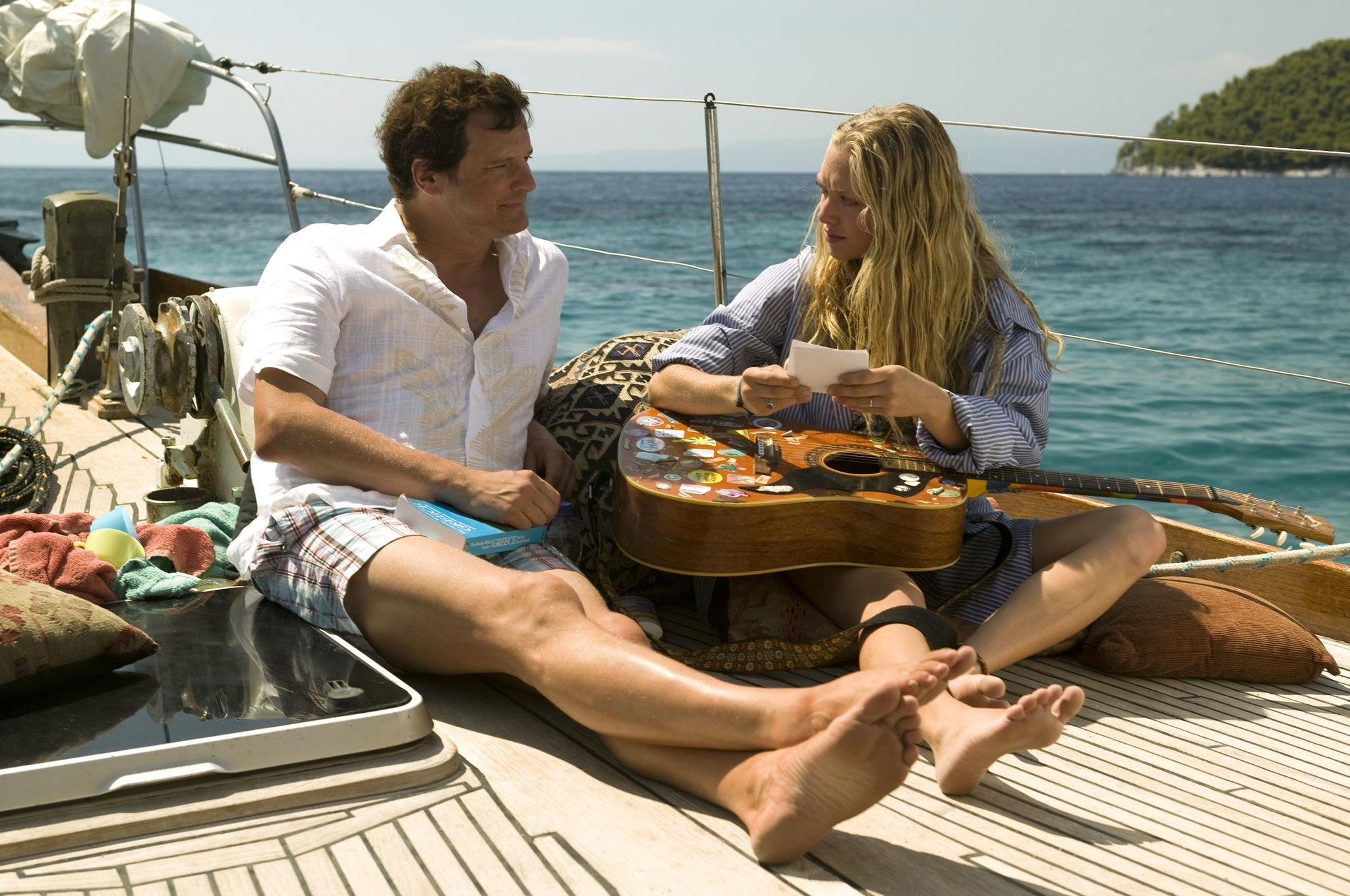Colin Firth not singing with Amanda Seyfried in Mamma Mia!.