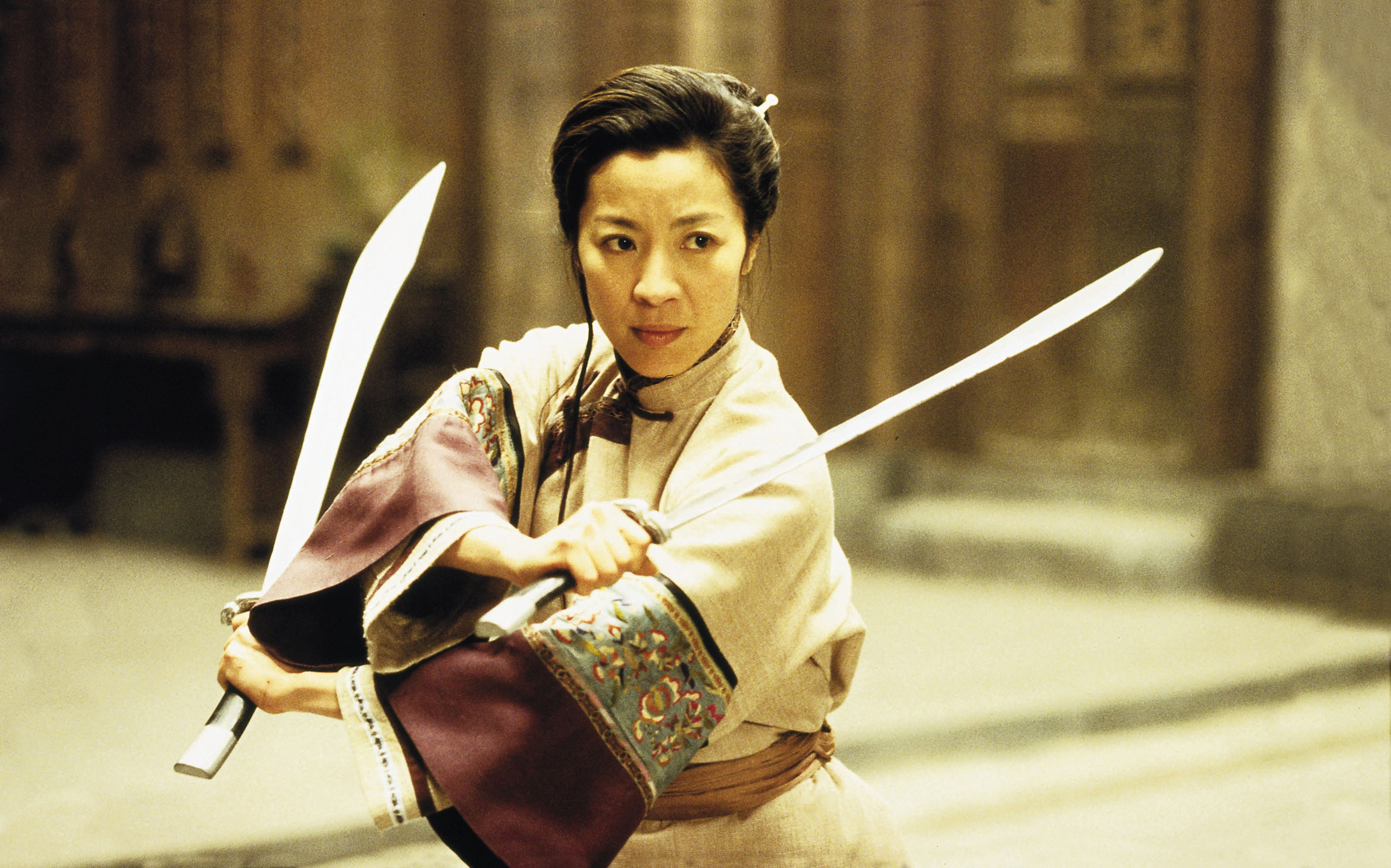 """Michelle Yeoh stars in Ang Lee's film """"Crouching Tiger, Hidden Dragon"""" in this undated handout photo released to the media on July 17, 2012. Best Foreign Film Oscar-winning """"Crouching Tiger, Hidden Dragon"""" became the highest grossing foreign film in the U.S. in 2001. Source: Edko Films via Bloomberg EDITOR'S NOTE: EDITORIAL USE ONLY. NO SALES."""