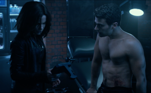 Underworld 5 clip sees Theo James get shirtless