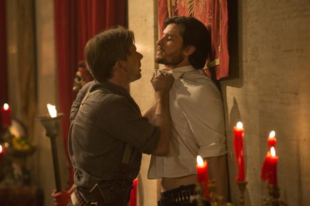 Jimmi Simpson as William, Ben Barnes as Logan