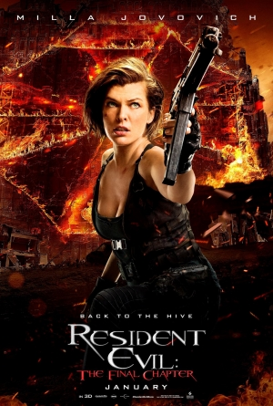 Resident Evil: The Final Chapter posters furiously shoot at nothing
