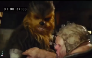 Star Wars The Force Awakens deleted scene sees Chewie rip off someone's arm