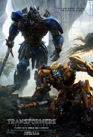 Transformers: The Last Knight new poster looms over Bumblebee