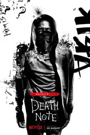 Death Note character posters for Adam Wingard's remake
