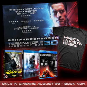 Win a Terminator 2: Judgment Day 3D Blu-ray bundle, t-shirt and poster