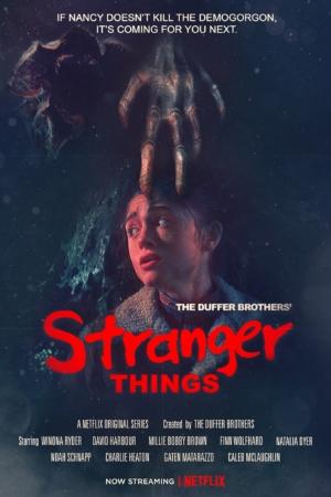 Stranger Things new poster goes even more retro
