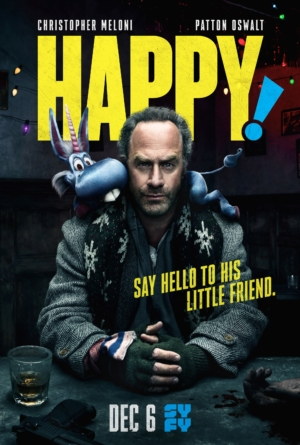 Syfy's Happy! new poster says hello to a little friend