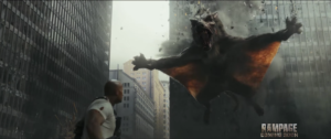 Rampage new trailer for Dwayne Johnson's monster movie has a flying wolf