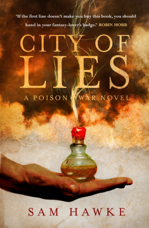 City Of Lies by Sam Hawke exclusive cover reveal!