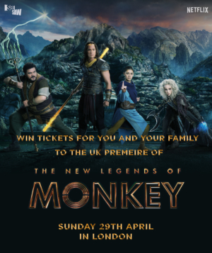 Win tickets to the UK premiere of The New Legends Of Monkey with our competition!