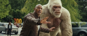 Rampage film review: The Rock takes on giant mutant animals